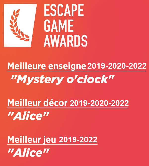 Escape Game Awards 2018